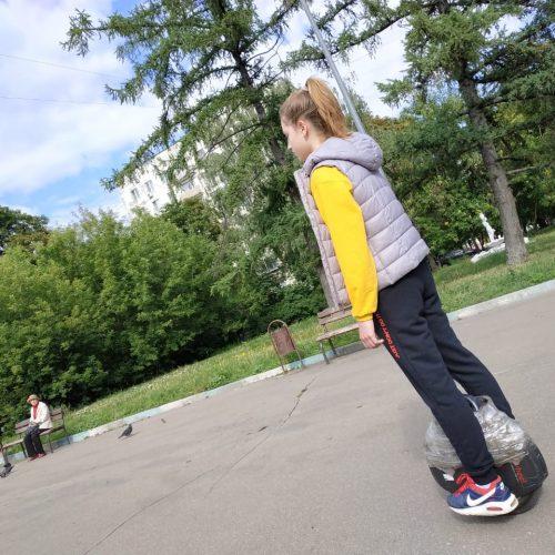 Фото отчет ученика после обучения езде на моноколесе 14